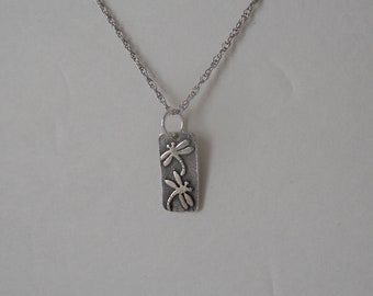 a7d2eaebf ... 950 fine silver kevin n anna mini dragonfly charm necklace 18 925 chain  ...