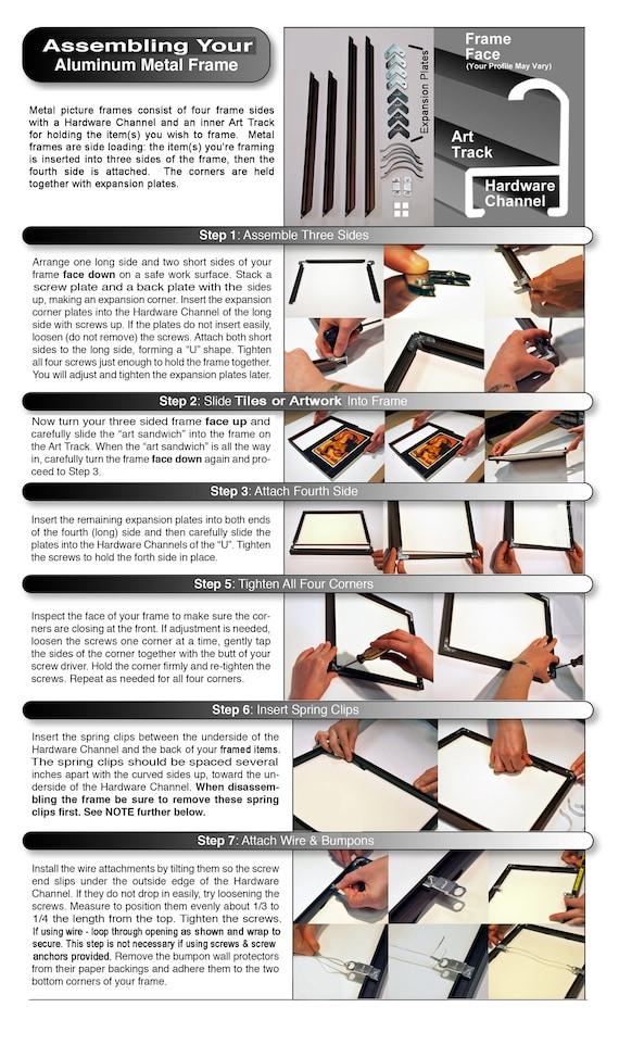 House Numbers Frame Metal Frame Custom Size Frames Address | Etsy