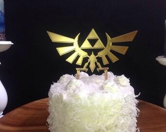 Legend Of Zelda Hyrule Crest Triforce Cake Topper