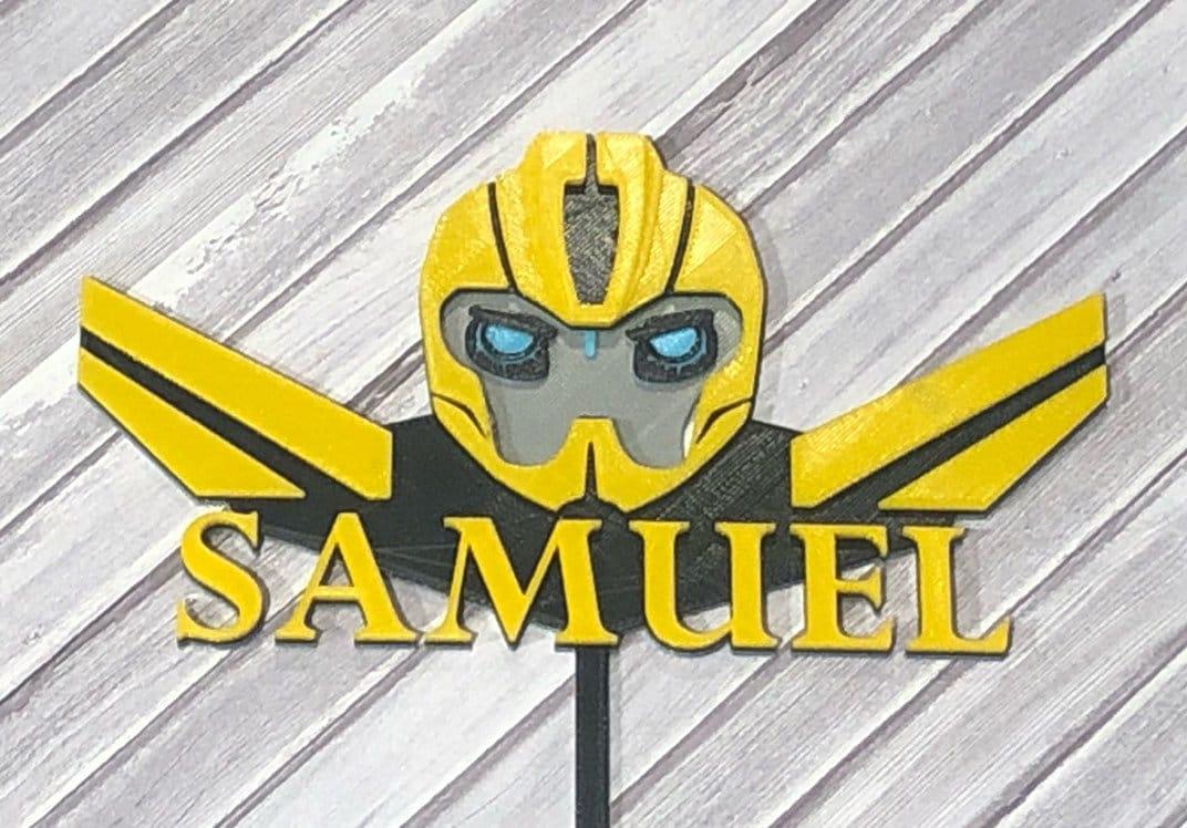 Custom Bumblebee Transformer Bumble Bee Cake Topper | Etsy