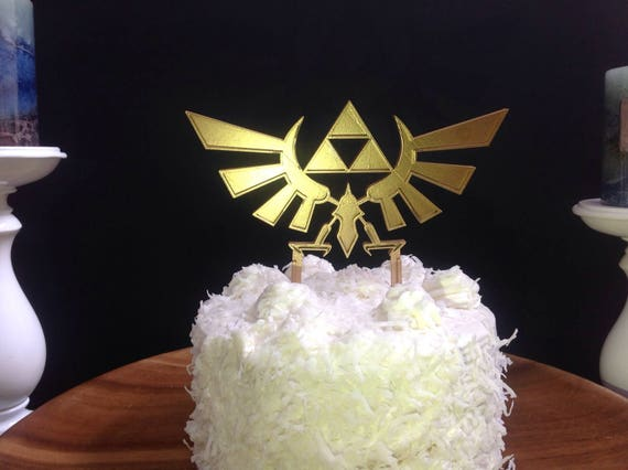Legend Of Zelda Hyrule Crest Triforce Cake Topper Etsy