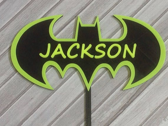 Customized Batman Cake Topper Etsy
