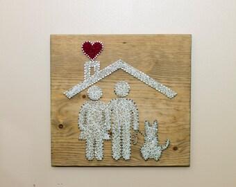 Family String Art
