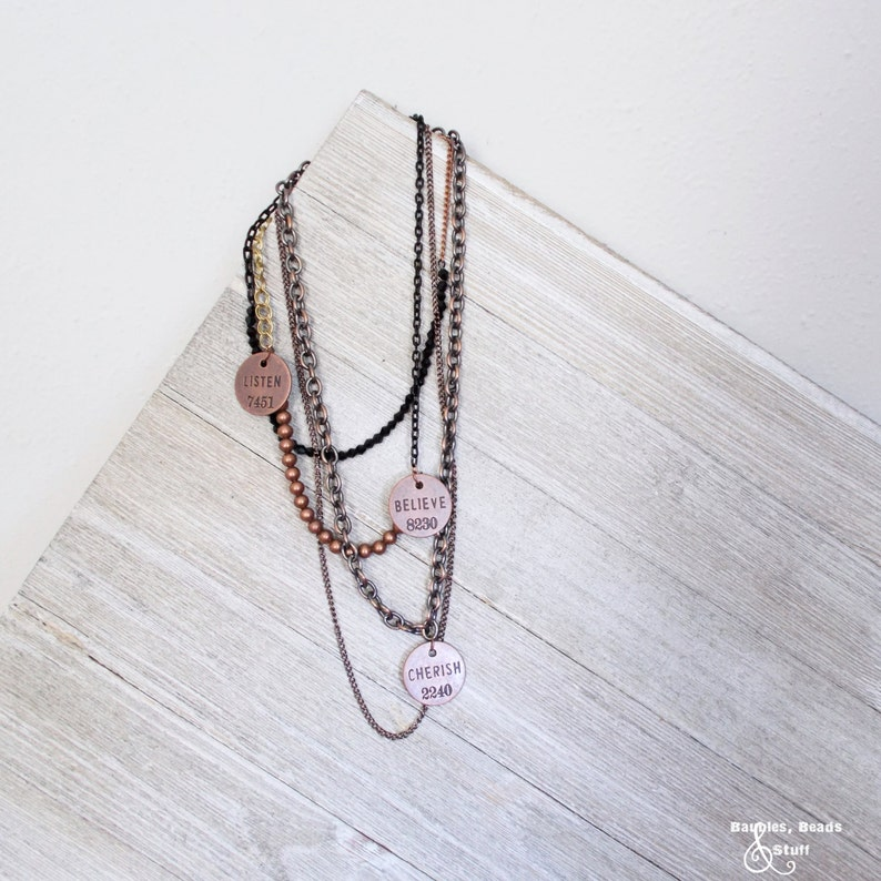 Multi-Chain With Round Charms  Multi Metal  Statement image 0