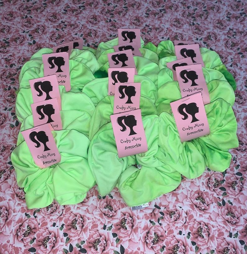 Mini Scrunchies Hair Accessories X-Large Scrunchies Lime Green Hair Scrunchie