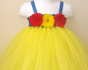 Snow white tutu dress, Snow white tutu, snow white dress, snow white costume, baby first birthday tutu dress, princess tutu dress