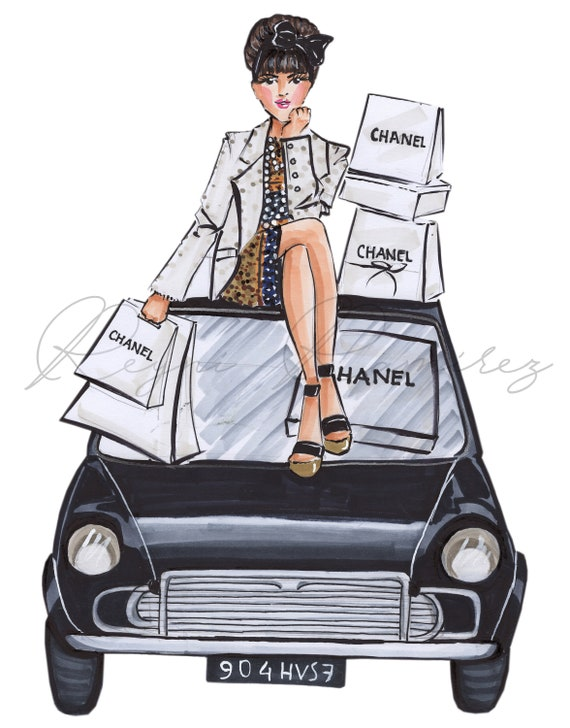 Ilustracion Moda Arte Pared Poster De Moda Boceto Moda Etsy