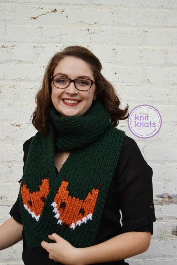Vixyn Scarf Pattern Knit Scarf Pattern Fox Scarf Pattern Etsy