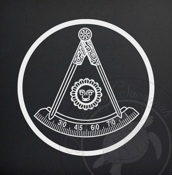 Masonic Symbol Past Master Mason Vinyl Decal Mason Decal Etsy