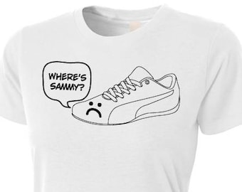 """Supernatural - """"Sam's Shoe"""" - I Lost My Shoe T-Shirt - Supernatural Quote - Sam Winchester Quote T-Shirt - White Women's Fitted T-Shirt"""