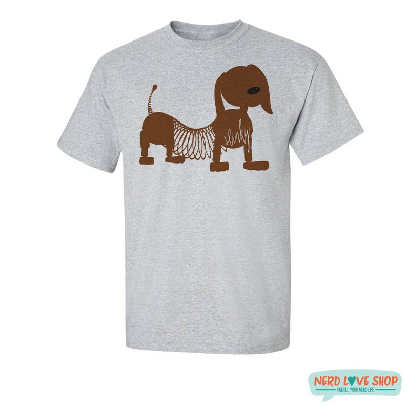 Slinky  Toy Cartoon T-Shirt  Slinky T-Shirt  Slinky Dog image 0