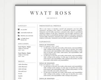 professional resume template resume template instant download free resume template cover letter - Downloadable Free Resume Templates