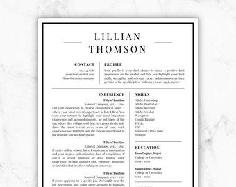 resume resume template instant download by resumetemplatestudio
