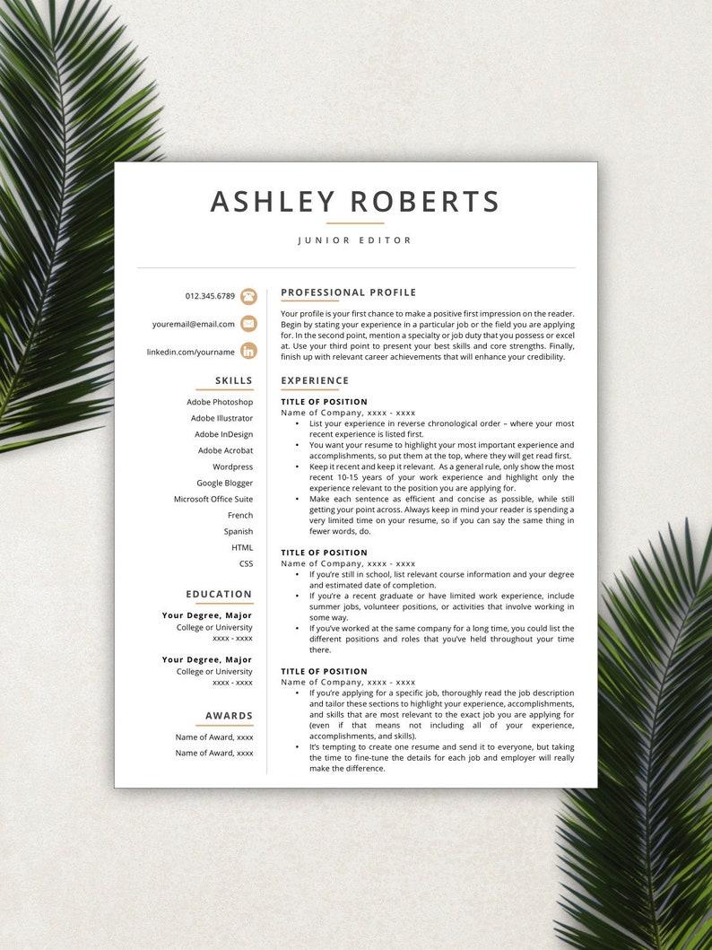 Resume Template Modern Resumes Free
