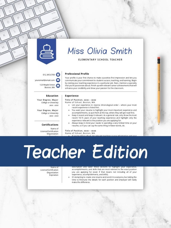 Teaching Resume Template Microsoft Word from i.etsystatic.com