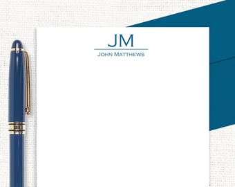 personalized notePAD - GRAND MONOGRAM - custom stationary - stationery - monogrammed paper - letter writing paper - writing notepad