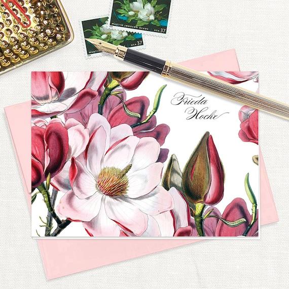 folded magnolia stationery