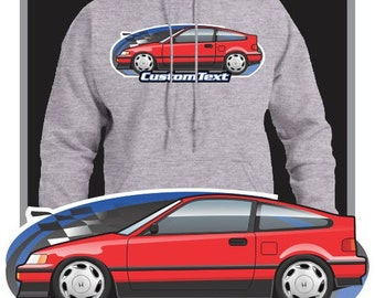 db7db657f8 Custom Art Hoodie inspired on 1987-1991 CR-X CRX SiR not affiliated with  HONDA