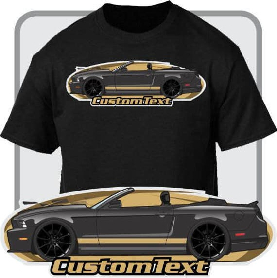 Custom Art T-Shirt 2010 11 12 13 14 Mustang 5.0 boss GT not affiliated with ford