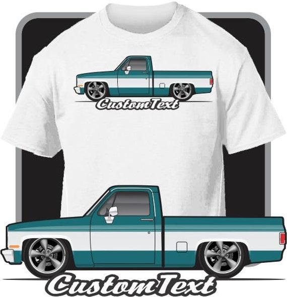 Custom T-shirt 1982 83 84-1993 Chevrolet Chevy S-10 Cameo 4.3 Baja Pickup Truck