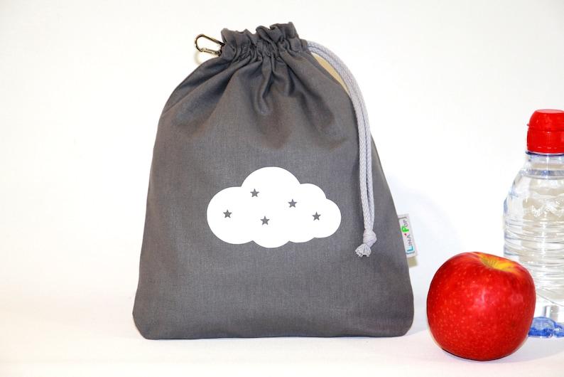Taste Pouch  Customizable Doudou Bag  100% Cloth United Grey image 0