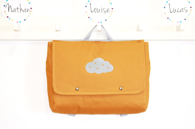 Mixed Blower Cloud Nursery Bag / Personalisable Firstname Bag image 0