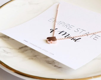 Rose Gold Spade Necklace, tiny spade necklace, ace of spades necklace, new york necklace, meaningful gift, 14k rose gold filled
