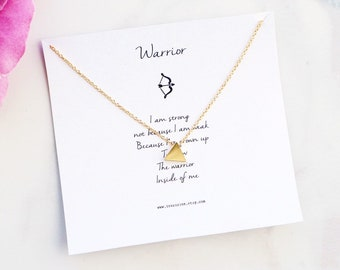 Inspirational Necklace, Gold Triangle Necklace, tiny triangle necklace, geometric jewelry, meaningful gift, geometric necklace