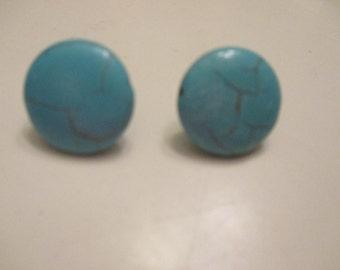 turquoise look post earrings