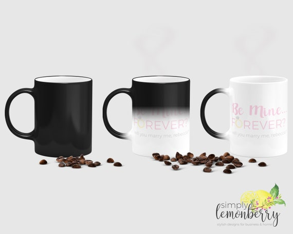 Marriage Proposal Ideas Will You Marry Me Coffee Mug Valentines Day Gift For Her Gift For Girlfriend Color Changing Heat Change