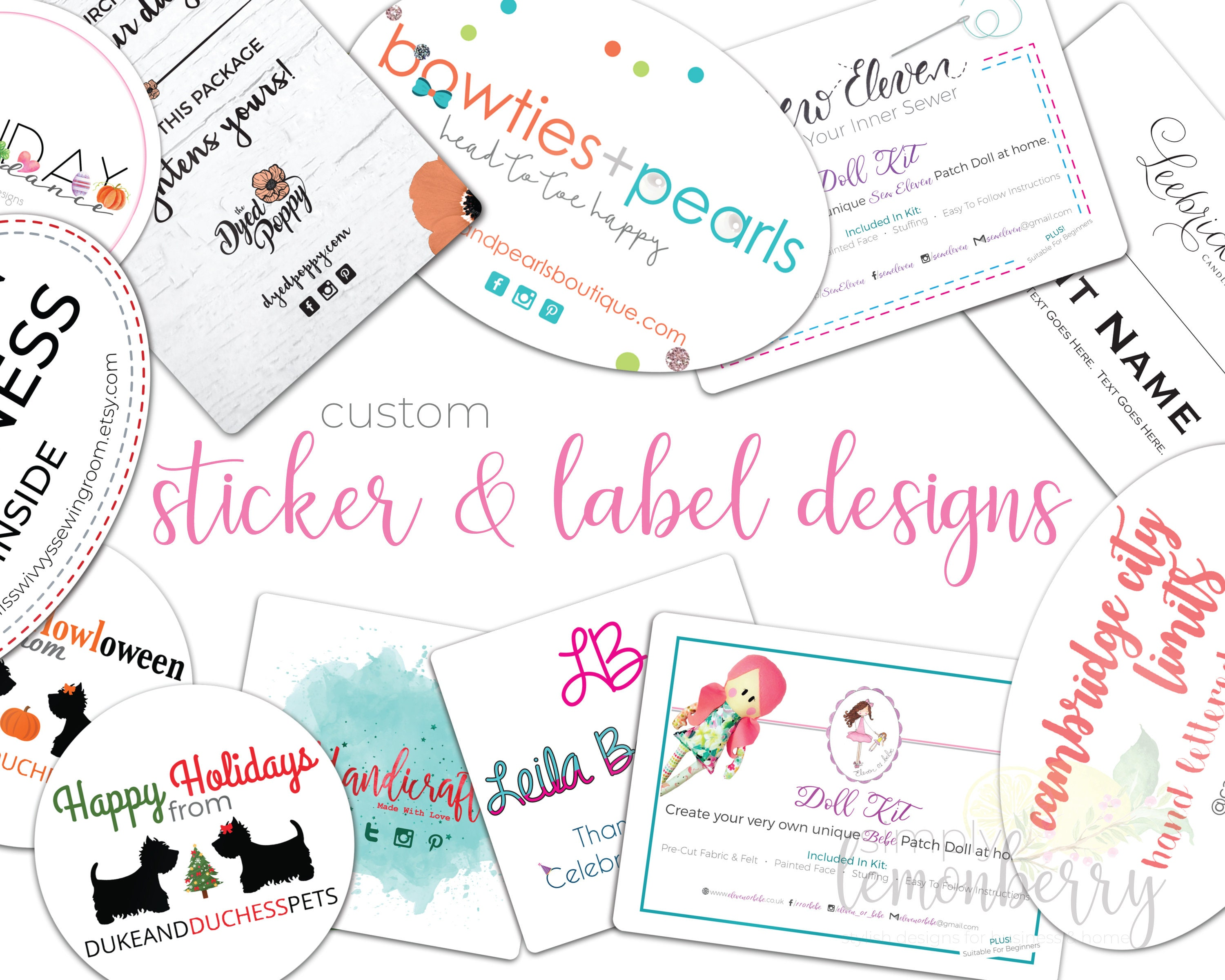 Custom packaging stickers logo stickers review stickers social media stickers product labels printable stickers printable labels