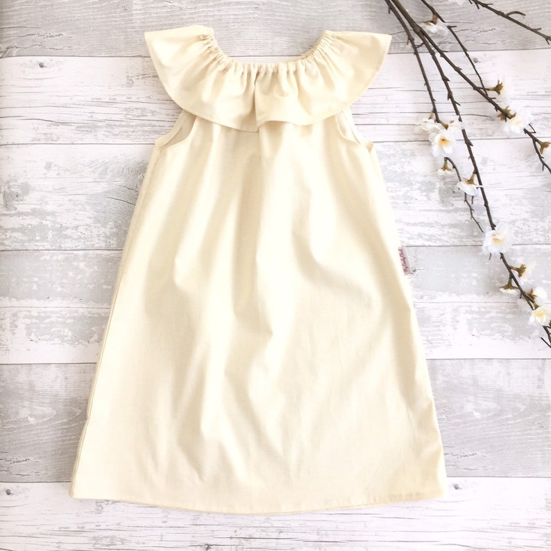 d5569927a Baby toddler girl ruffle collar dress first outfit Holiday