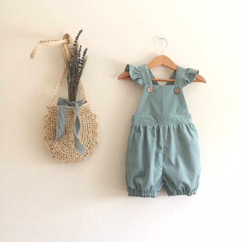 22d3deb35 Mint green short bubble corduroy overalls Girls baby toddler   Etsy