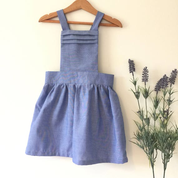 f8edfe61b Toddler girl pinafore overall dress Dungaree dress birthday
