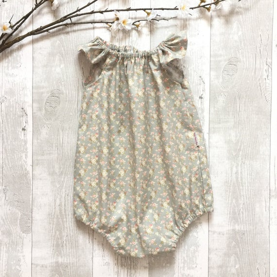81b74fa17 Ruffle sleeve romper Toddler baby girl Easter playsuit
