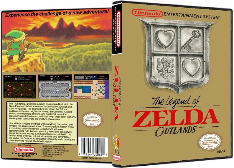The Legend of Zelda Outlands - NES Nintendo Cart