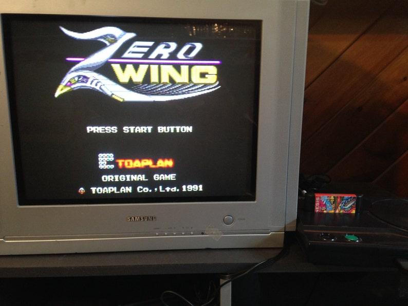 Zero Wing SEGA Genesis Reproduction
