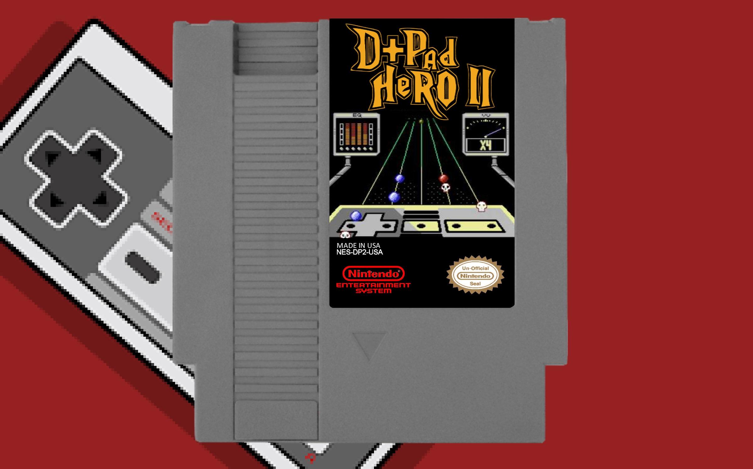 D-Pad Hero II - NES Nintendo Cart