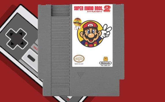 Super Mario Bros  2 Japan / Lost Levels - NES Nintendo Reproduction