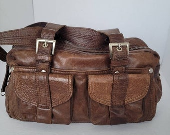 Shoulder Bag Vintage Coret Montreal Burgundy Leather Bag with White Stripes 1980s Clutch, Gold Tone Metal