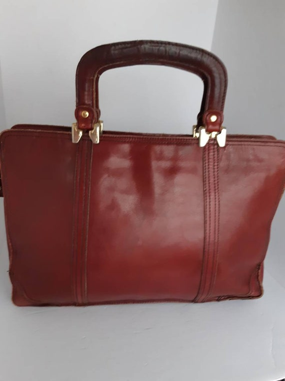 1970s Leather Business Bag