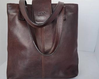 1980s Aldo Leather Short Handle Bag