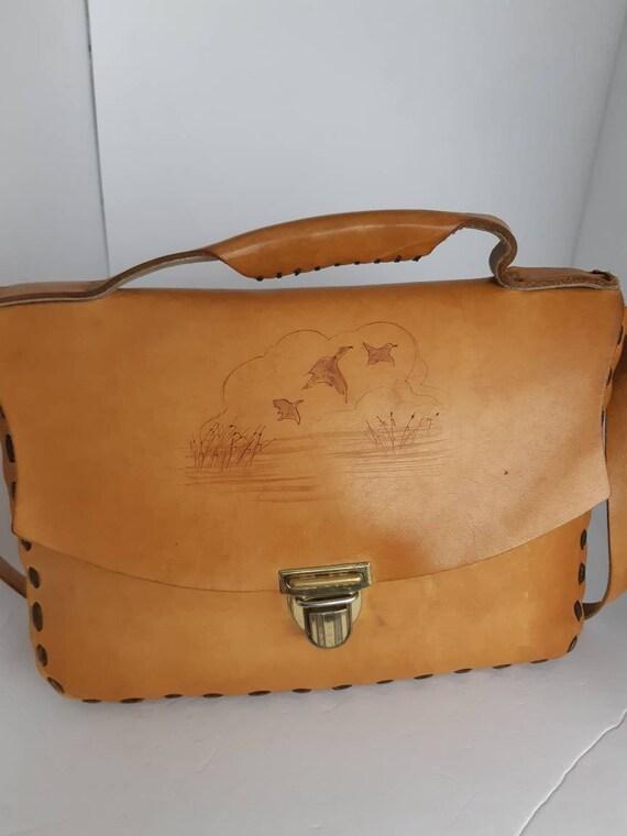 1970 Saddle Leather Shoulder Bag