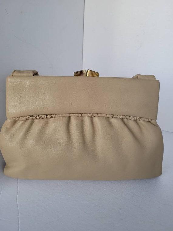 1950s Leather Top Handle Shoulder Bag