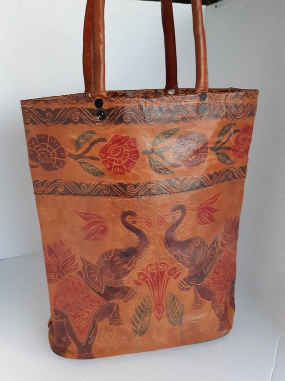 1960s Leather Top Handle Bag