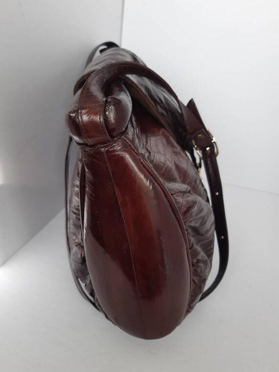1980s Genuine Eel Skin Shoulder Bag - image 2