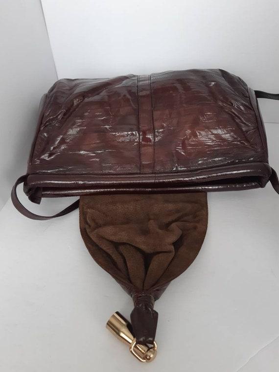 1980s Genuine Eel Skin Shoulder Bag - image 5