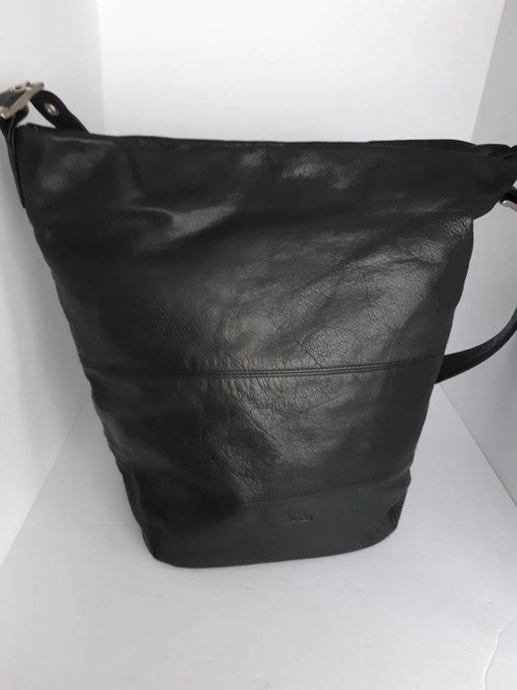 Vintage Danier Leather Bucket Bag