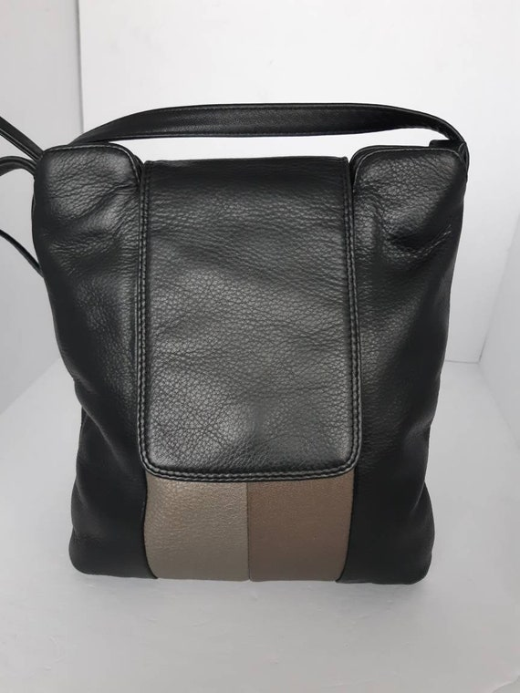 Vintage Black Leather Derek Alexander Shoulder/Cro