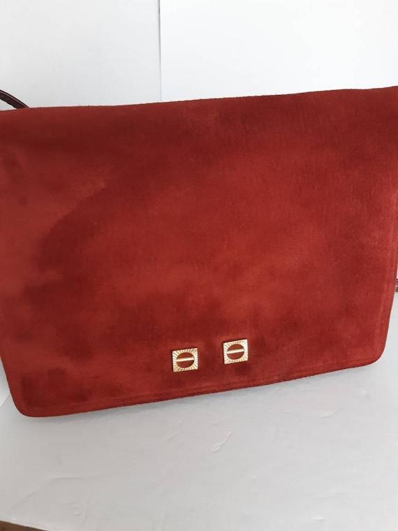 1960s Suede Shoulder Bag